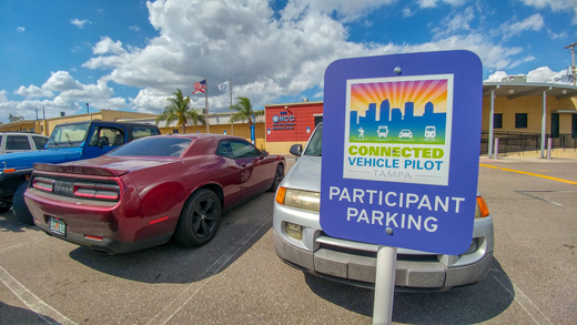 Photo of the HCC parking for participants