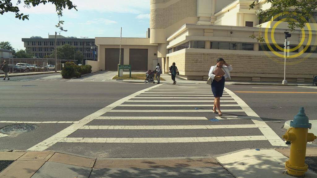 Crossing Sensor Pedestrians